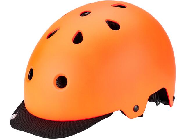 Kali Saha Fietshelm, orange/black